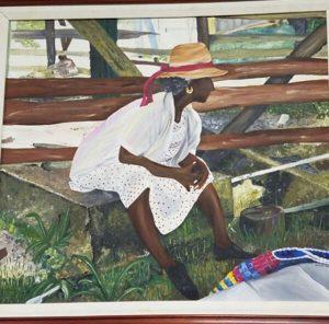 the waiting acrylic on canvas