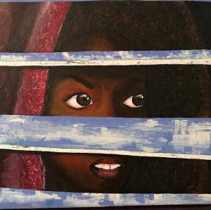 acrylic on canvas, Intafayrn Betsi - Belize